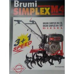 MOTOZAPPA BRUMI SIMPLEX M4 3+1 10 L, LOMBARDINI, 10HP, GASOLIO, 10LD350