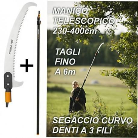 SEGHETTO CURVO PER ASTA TELESCOPICA QuickFit FISKARS, PERTICA MANICO, 136527